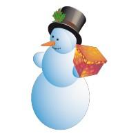 Bonhomme de Neige et son Petit Cadeau