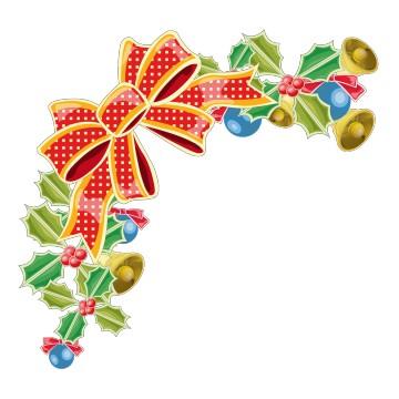 Stickers Demi Couronne de Noël
