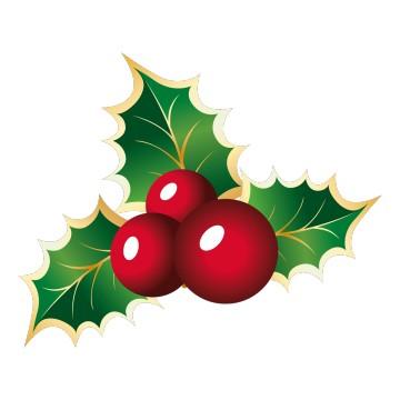 Stickers Houx de Noël 1