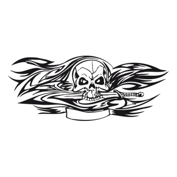 stickers Tête de Mort 5