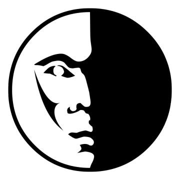 stickers asiatique Visage Lune