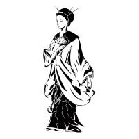 Jeune femme asiatique dit Lotos