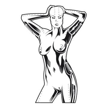 stickers Extraterrestre Femme