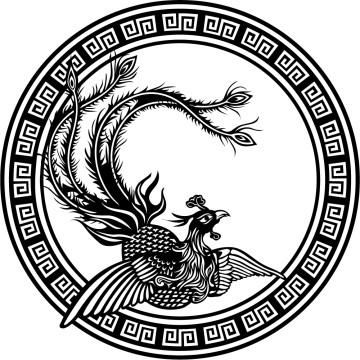 Stickers Cercle d'Oiseau