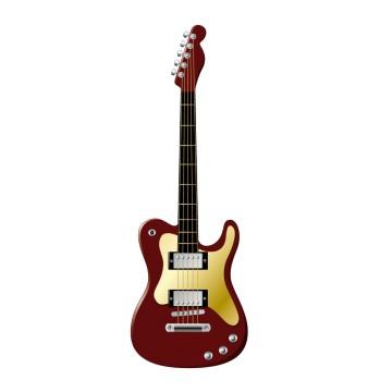Stickers autocollant Guitare Électrique