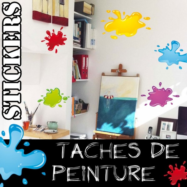 stickers tache de peinture france stickers. Black Bedroom Furniture Sets. Home Design Ideas