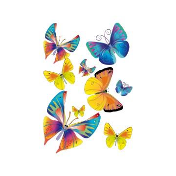 stickers Planche de  9  Papillons