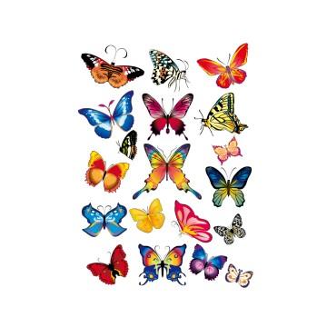 stickers Planche de  19  Papillons  1