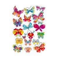 Planche de 19 Papillons 2