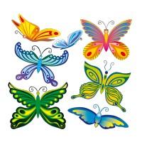 Planche de 7 Papillons