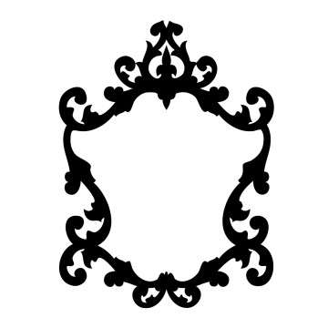 stickers cadre baroque france stickers. Black Bedroom Furniture Sets. Home Design Ideas