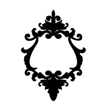 stickers Cadre Baroque 7