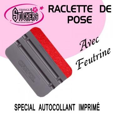 Raclette de pose grise avec Feutrine pour Stickers et Autocollants
