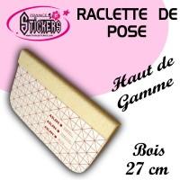 Raclette de pose en Bois avec Feutrine pour Stickers et Autocollants