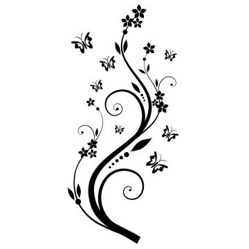 Stickers Fleur et Papillon