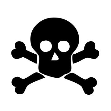Stickers Tête de Mort 15