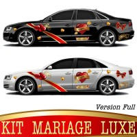 Stickers Autocollants Kit Voiture Mariage Luxe Version. Full
