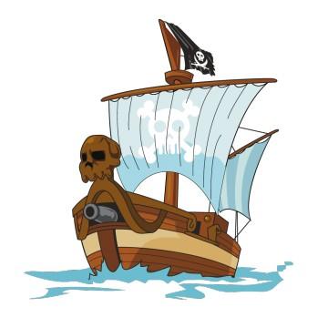 sticker Pirate Bâteau 4