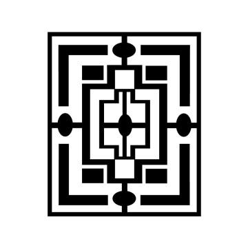 Stickers Psychédélique carré 3