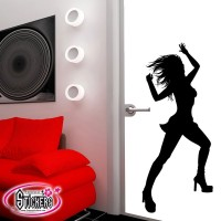 Stickers Autocollants Lady dance Music 3