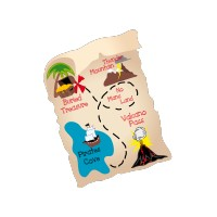 Stickers Carte de Pirate