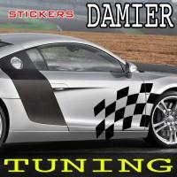 Planche de 2 stickers Tuning Damier- 10