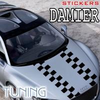 Planche de 2 Stickers Tuning Damier 11