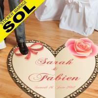 Deco Mariage Stickers Spécial Sol - Coeur Romantique