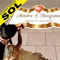 Sickers Mariage Spécial Sol - Coeur de Bijoux