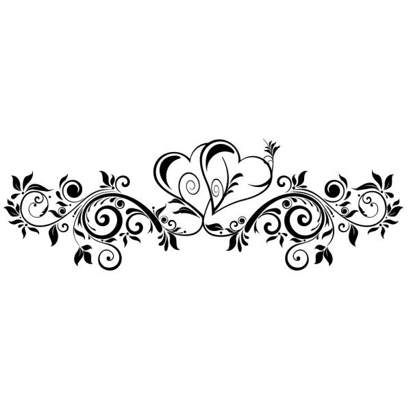 Stickers Tte De Lit Floral Double C Ur FRANCE STICKERS