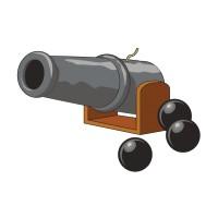 Stickers Canon de Pirate 2