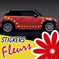 26 Stickers Tuning Voiture Fleurs