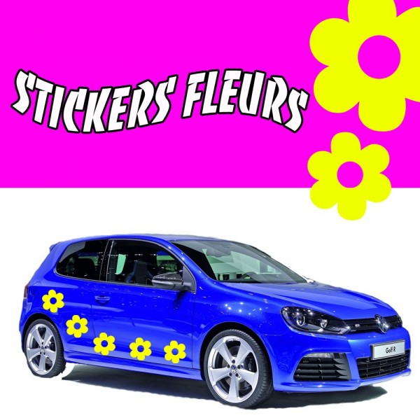 stickers tuning voiture fleurs france stickers. Black Bedroom Furniture Sets. Home Design Ideas