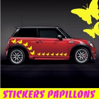 30 Stickers Tuning Papillons