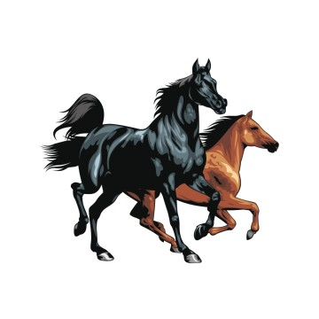 stickers Cheval 8