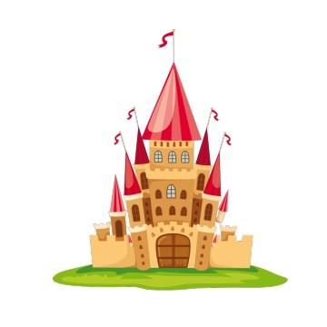 Stickers chateau de princesse pas cher france stickers - Image de princesse ...