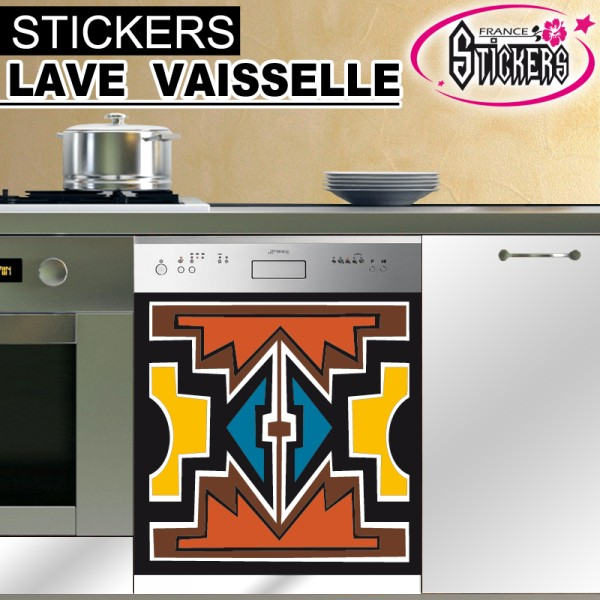 stickers lave vaisselle africain france stickers. Black Bedroom Furniture Sets. Home Design Ideas