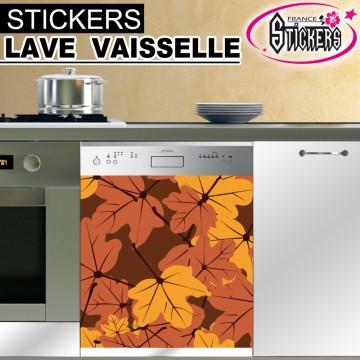 Stickers Lave Vaisselle Feuille d'Automne