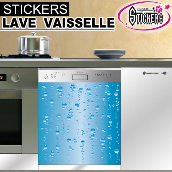 Stickers lave vaisselle bulle d 39 eau france stickers - Lave vaisselle economique en eau ...