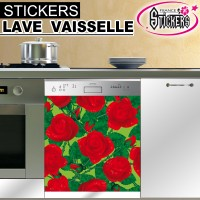 Stickers Lave Vaisselle Rose Rouge