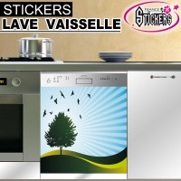 Stickers Lave Vaisselle Paysage 1