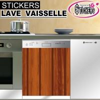 Stickers Lave Vaisselle couleur Bois 1