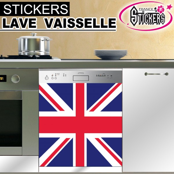 stickers lave vaisselle drapeau anglais france stickers. Black Bedroom Furniture Sets. Home Design Ideas
