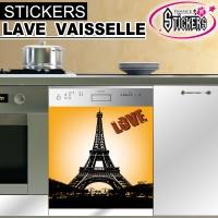 Stickers Lave Vaisselle Tour Eiffel