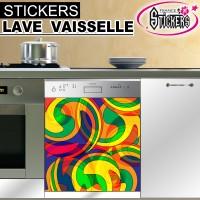 Stickers Lave Vaisselle Année  70
