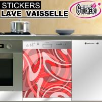 Stickers Lave Vaisselle Nuance Rouge  1