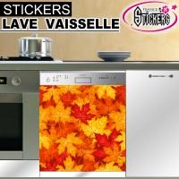 Stickers Lave Vaisselle Feuilles d'Automne   1