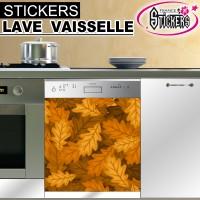 Stickers Lave Vaisselle Feuilles d'Automne 2