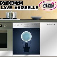 Stickers Lave Vaisselle Nuit Romantique