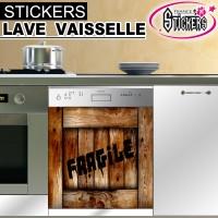 Stickers Lave Vaisselle Couleur Bois 2